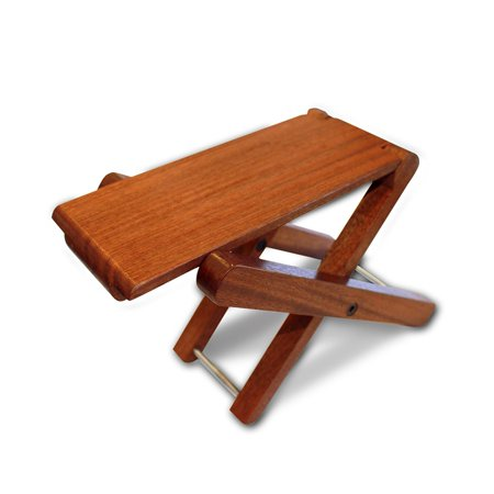 Cordoba Folding Wood Folding Footstool (Rosewood) Guitar Stool, Solid Wood Construction By Cordoba Guitars From USA