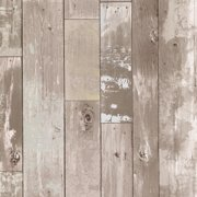 Brewster 347-20132 Heim Farmhouse Distressed Wood Panel Pre-Pasted Wallpaper - Beige