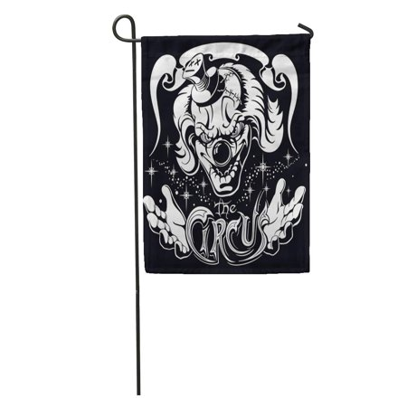 SIDONKU Evil Scary Clown Head His Hands and Old Inscription Circus Horror Film Character Joker Garden Flag Decorative Flag House Banner 28x40 inch](Scary Characters)