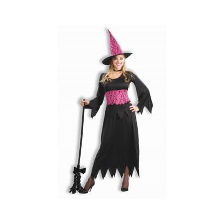 Pink And Black Witch Costume (CO-LACY PINK WITCH-STD)