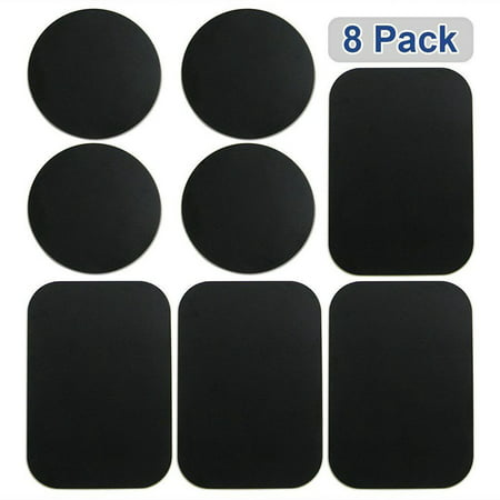 8 Pcs Magnetic Metal Plates Sticker for Smart Phones Matte