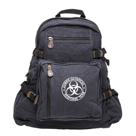 Zombie Outbreak Response Team Sport Heavyweight Canvas Backpack bag