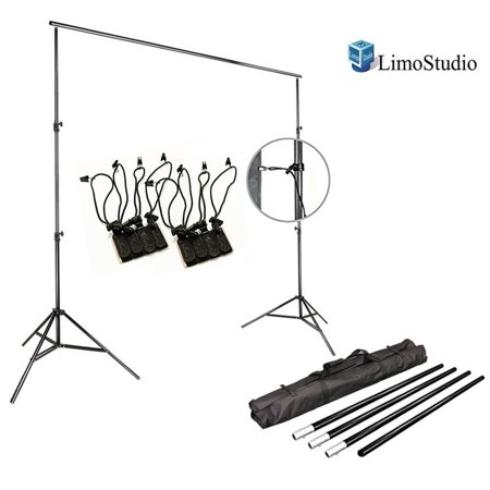 Loadstone Studio Photo Video Studio 10Ft Adjustable Muslin Background Backdrop Support System Stand, [2set] 4x Muslin Photo Backdrop Holder Clamp Support Clips Kit with Bag, WMLS3341 - Halloween Clip Art Backgrounds