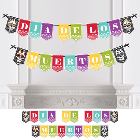 Day Of The Dead - Dia de los Muertos Party Bunting Banner - Sugar Skull Party Decorations - Dia de los Muertos (Dia De Los Muertos Party Supplies)
