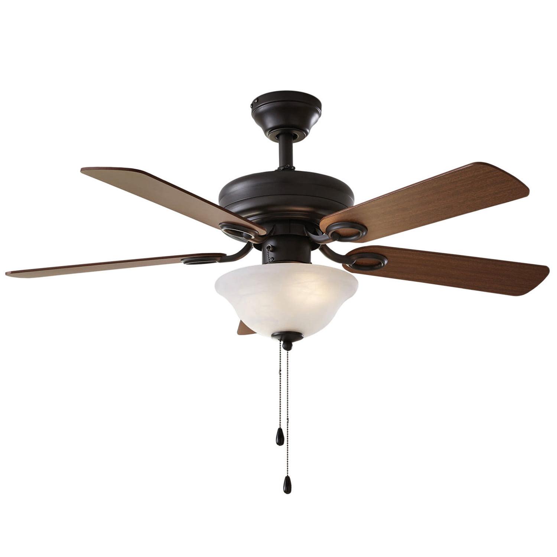 "42"" Chapter Ceiling Fan, Bowl Light, Bronze"