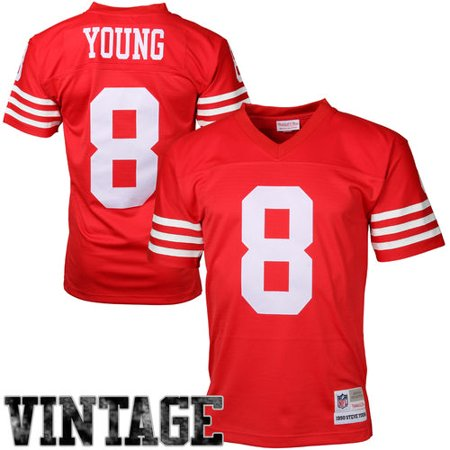 new style 4c044 f6a03 Mens San Francisco 49ers Steve Young Mitchell & Ness Scarlet Retired Player  Vintage Replica Jersey