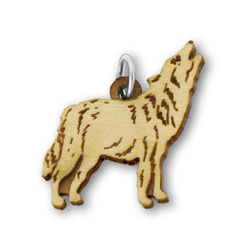 Animal Charm, Wolf for Bella's Bracelet 22mm, 1 Piece, Basswood