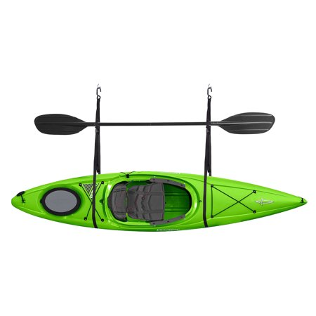 Kayak Hoist System (2028 Single Kayak Storage Strap Garage Canoe Hoists 55 lb Capacity Lifetime Warranty )