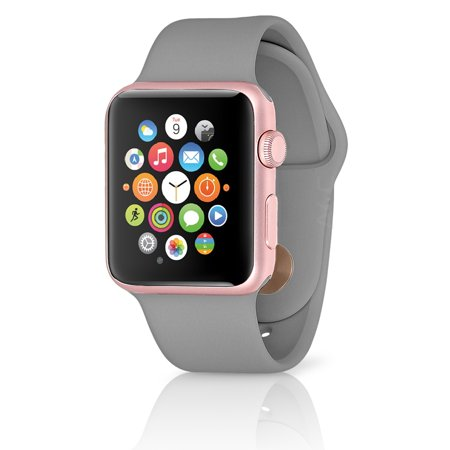 separation shoes 165ad fcb3d (Refurbished) Apple Watch Series 2 w/ 38MM Rose Gold Aluminum Case &  Concrete Gray Sport Band