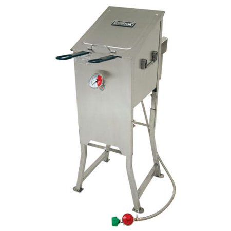 Bayou classic stainless steel 4 gallon outdoor stainless for Walmart fish fryer
