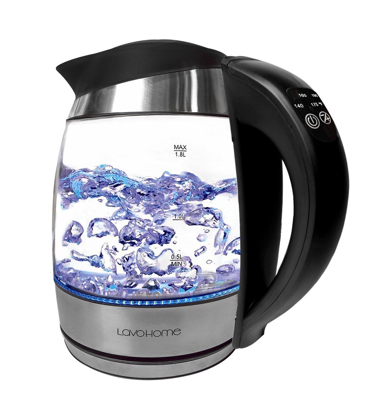 Precision 1.8-liter Electric Tea Kettle Rapid Boil, 5 Pre...