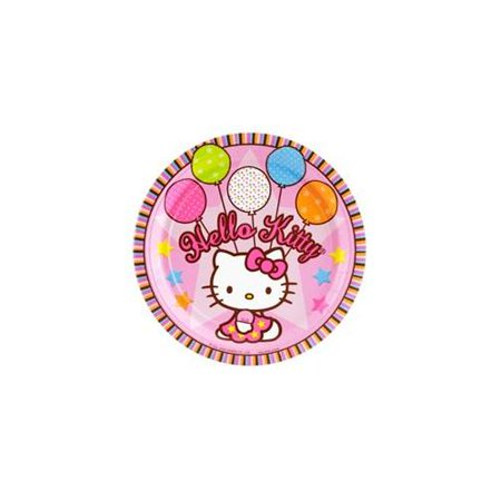 Hello Kitty 'Balloon Dream' Large Paper Plates (8ct)](Hello Kitty Dessert Ideas)