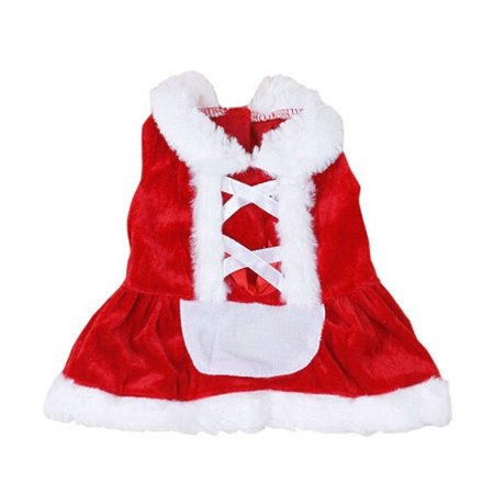 Christmas Dog Clothes Santa Doggy Costumes Clothing Pet Apparel New Design S for $<!---->
