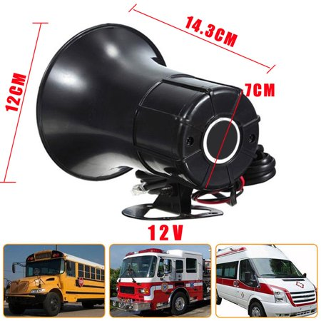 12V 7 Sounds Car Loud Speaker Electronic Warning Siren Police Fire Horn Alarm - image 4 of 8