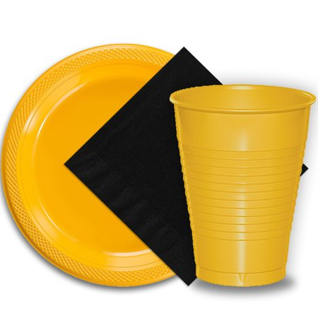 Disposable Wedding Plates Cups And Napkins (50 Yellow Plastic Plates (9