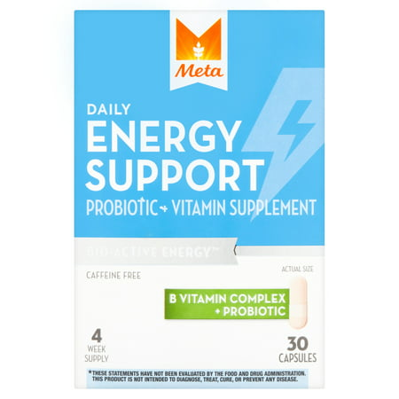 Meta Daily Energy Support Probiotic Supplement, 30 count