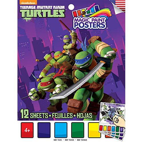 Savvi Teenage Mutant Ninja Turtles Magic Paint Poster Book