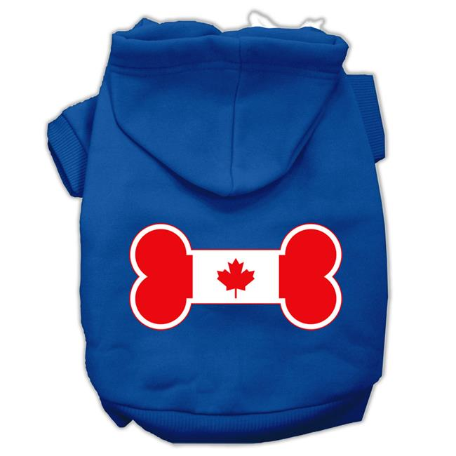 Bone Shaped Canadian Flag Screen Print Pet Hoodies Blue M (12) - image 1 de 1