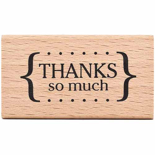 American Crafts 59025 American Crafts Mounted Rubber Stamp 2. 25 inch x 1. 25 inch-Thanks So Much