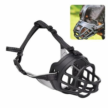Roofei Dog Masks Dog Mouth Adjustable Compression Anti-bite Silicone Dog Dog Mouth Dog Mask Training Dog Pet Supplies Black 1-5# - image 2 de 8
