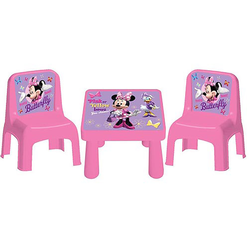 Disney Minnie Bowtique Cafe Table and Chairs Set
