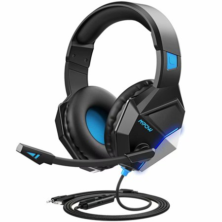 Mpow EG10 Gaming Headset with 3D Surround Sound, PC PS4 Headset with Crystal Clear Mic, 50mm Speaker Drivers, Volume & Mute Control Universal Gaming Headphones for Xbox covid 19 (Xbox 360 Surround Sound coronavirus)