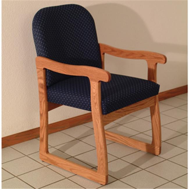 Wooden Mallet DW7-1MOVC Prairie Guest Chair in Medium Oak - Cream