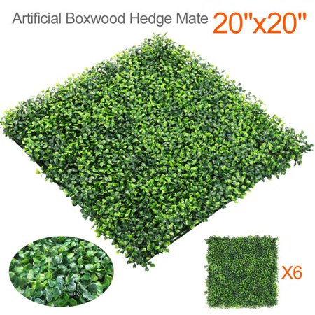 6 20″ x 20″ Artificial Boxwood Plants Now $48.99