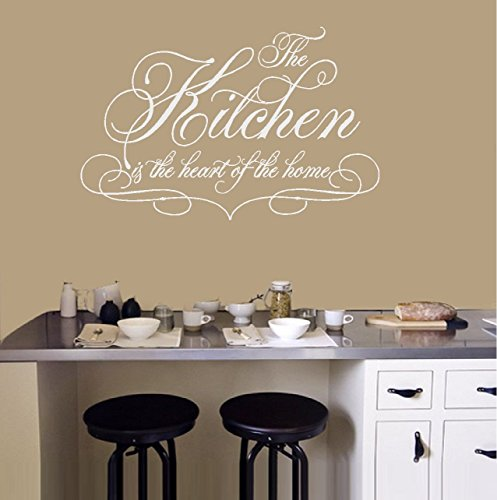 "Decal ~ The KITCHEN is the heart of the Home ~ Wall or Window Decal 20"" x 30"""