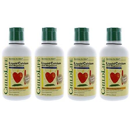 Liquid Calcium with Magnesium 16 oz by ChildLife Essentials,Pack of