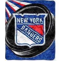 "NHL New York Rangers ""Puck"" 50"" x 60"" Sherpa Throw"