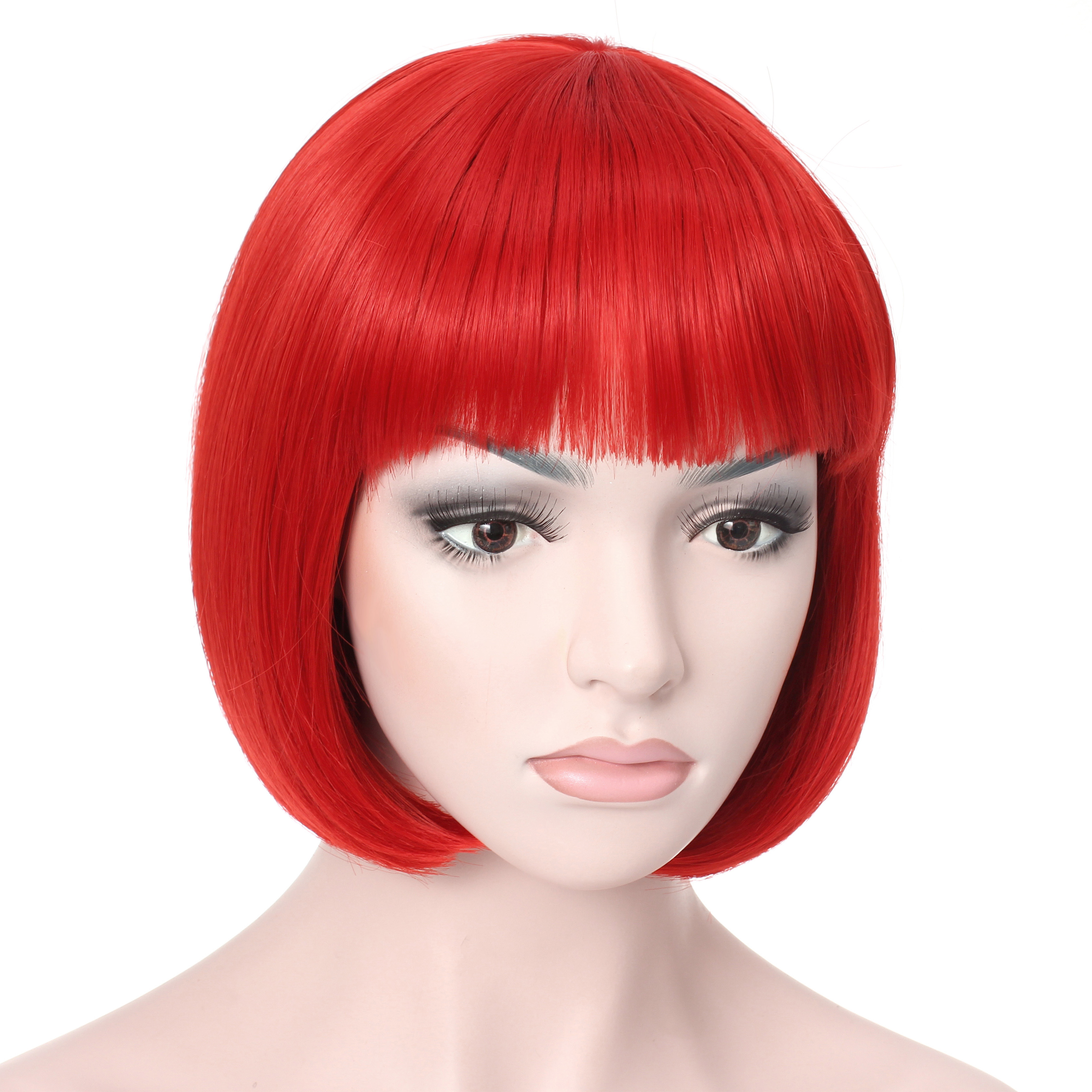 "OneDor® 10"" Short Straight Flapper Bob Cosplay Hair Wig"