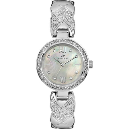 Women's 30mm Mother-of-Pearl Dial Watch, Silver-Tone Bracelet