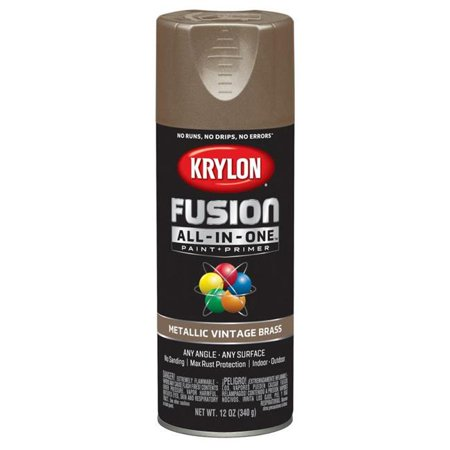 Krylon Diversified Brands K02774007 Fusion All-In-One Spray Paint & Primer, Metallic, Vintage Brass, 12-oz. - Quantity 1