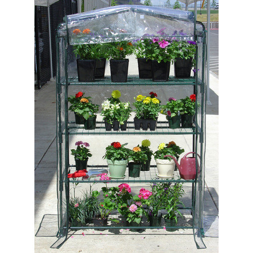 Jewett Cameron Early Start 3.5 Ft. W x 1.5 Ft. D PVC Growing Rack Greenhouse