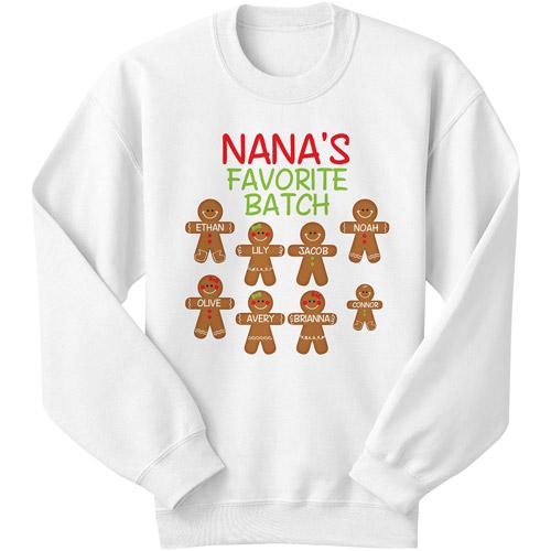 Personalized Women's Gingerbread Favorite Batch Sweatshirt