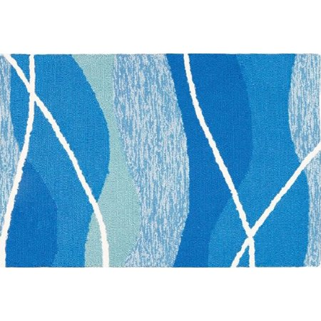 3' x 5' Blue and White Tranquility Bay Indoor/Outdoor Area Rug ()