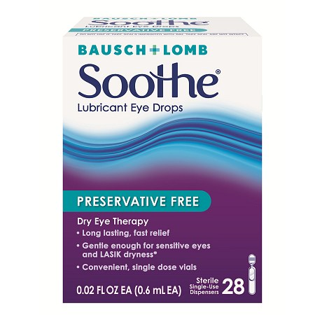 Soothe Lubricant Eye Drops, Preservative Free 28 ea(pack of 2)