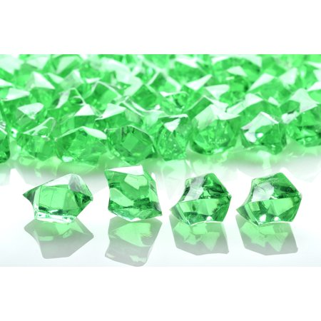 Quasimoon Grass Green Colored Gemstones Acrylic Crystal Wedding