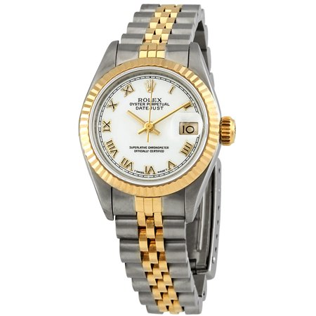 Pre-owned Pre-owned Rolex Datejust White Dial Jubilee Bracelet Ladies Watch
