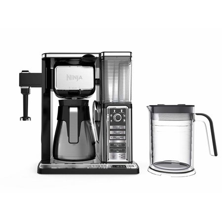 Ninja Coffee Bar Auto-iQ Programmable Coffee Maker with 6 Brew Sizes, 5 Brew Options, Milk Frother, Removable Water Reservoir, Stainless Carafe CF097 (Certified