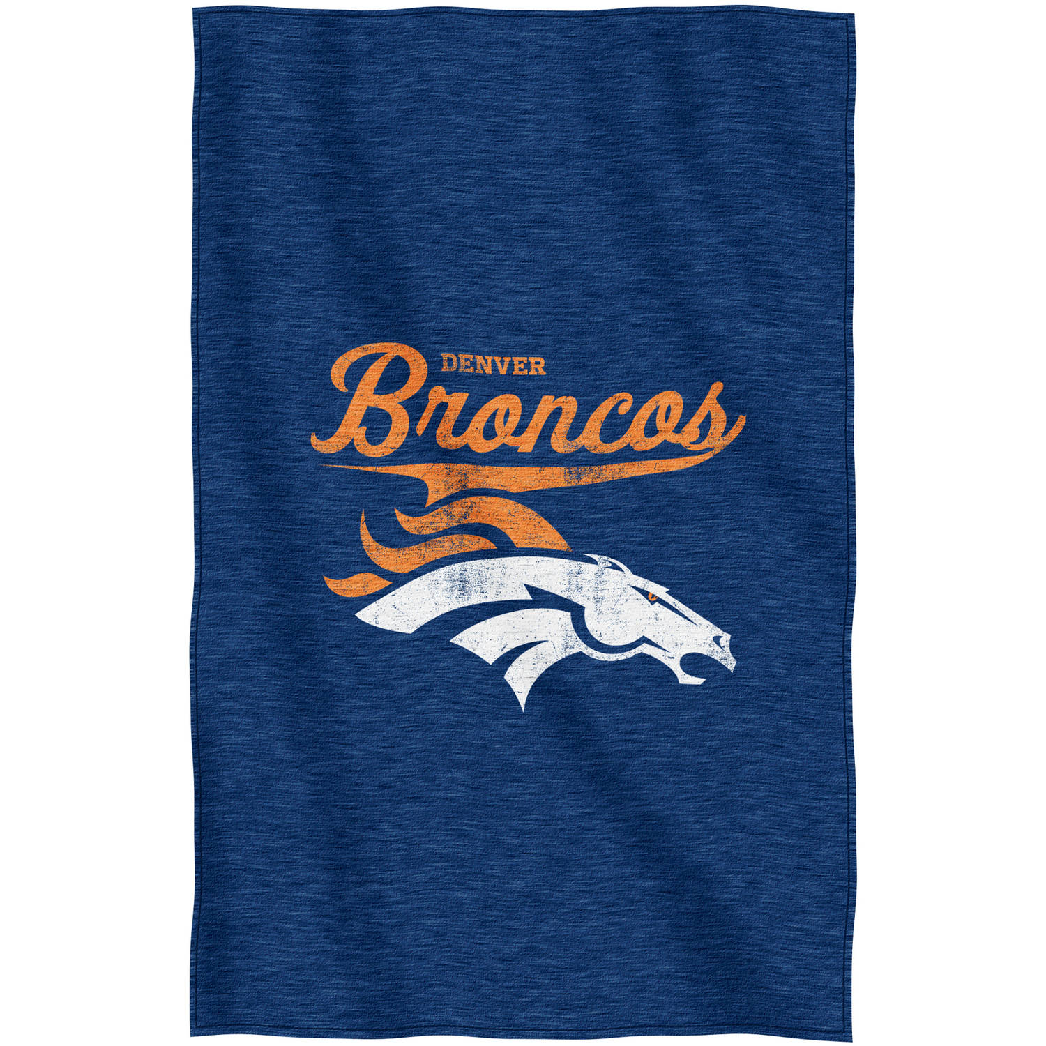 "NFL Denver Broncos ""Script"" 54"" x 84"" Sweatshirt Throw"