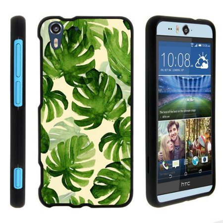 TurtleArmor ® | For HTC Desire EYE [Slim Duo] Two Piece Hard Cover Slim Snap On Case - Green Leaves ()