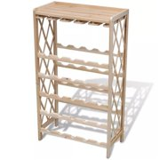 OnlineGymShop CB20427 Wooden Wine Rack for 25 Bottle