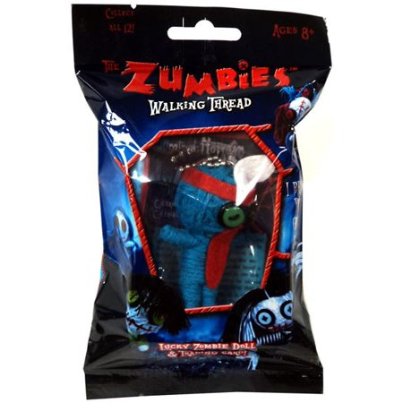 Pack Single Card - The Zumbies: Walking Thread (Single Pack) Lucky Zombie Doll & Trading Card Keychain (Random Package)