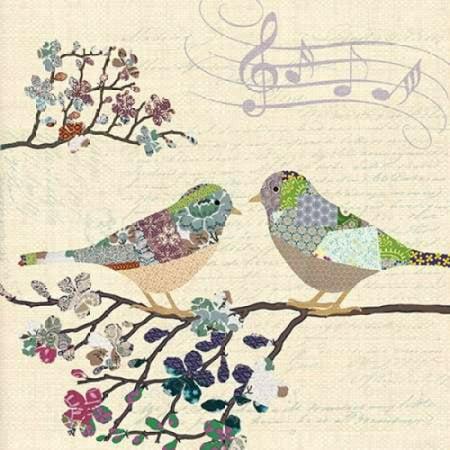 Patch Work Birds Ii Poster Print By Piper Ballantyne
