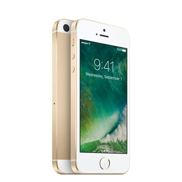 Walmart Family Mobile Prepaid Apple iPhone SE 32GB, Gold ...
