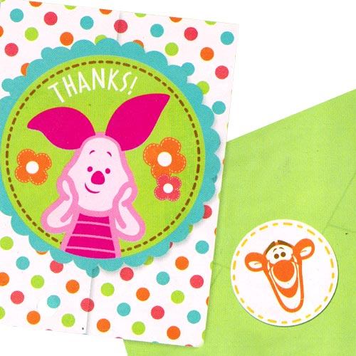 Winnie the Pooh 'Little Hunny' Baby Shower Thank You Notes w/ Env. (8ct)