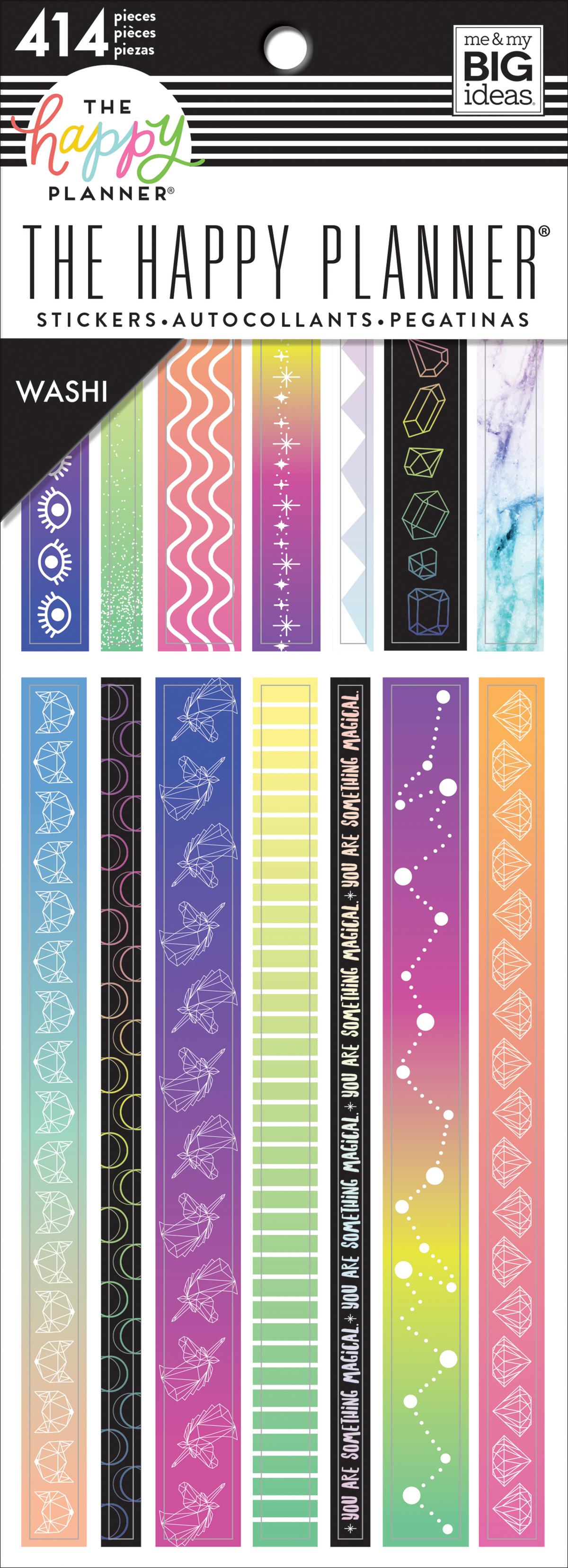 414//pkg Happy Planner Washi Sticker Book-magical