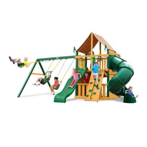 Gorilla Playsets Mountaineer Clubhouse Supreme WG Cedar Swing Set